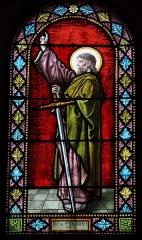 Eglise Saint-Martin - Français:   Intérieur de l\'église Saint-Martin de La Motte-Ternant (21). Vitrail. Saint-Paul.
