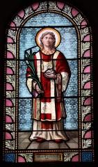 Eglise Saint-Martin - Français:   Intérieur de l\'église Saint-Martin de La Motte-Ternant (21). Vitrail. Saint-Étienne.