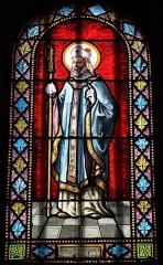 Eglise Saint-Martin - Français:   Intérieur de l\'église Saint-Martin de La Motte-Ternant (21). Vitrail. Saint-Martin.