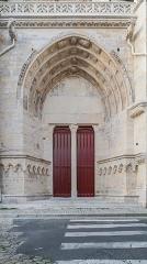 Cathédrale Saint-Cyr et Sainte-Julitte - English:  Portal of the Saints Quiricus and Julietta cathedral in Nevers, Nièvre, France