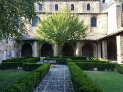 Ancienne abbaye Saint-Philibert - Français:   Cloître de l\'abbaye Saint-Philibert de Tournus (Saône-et-Loire, Bourgogne-Franche-Comté).