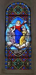 Eglise - Français:   Vitrail Assomption de la Vierge, collégiale Notre-Dame, Montréal, Yonne