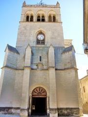 Ancienne cathédrale, actuellement Eglise Notre-Dame - Français:   Façade et clocher de la cathédrale de Die