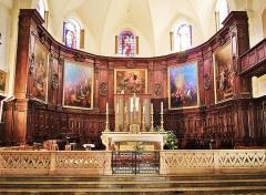 Ancienne cathédrale, actuellement Eglise Notre-Dame - Français:   Maître-autel et retable