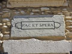 Remparts - Français:   Cartouche sur un mur de Die