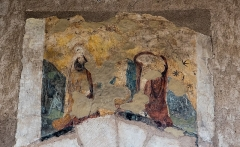 Chapelle de Chevènes - Français:   Chapelle de Chevènes Denicé fresques détail