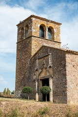 Chapelle de Chevènes - Français:   Chapelle de Chevènes Denicé portail et clocher
