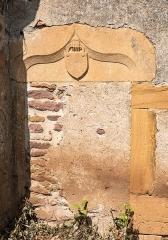 Chapelle de Chevènes - Français:   Chapelle de Chevènes Denicé porte latérale murée