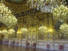 Hôtel de ville -  Le Salon Justin Godard, ou grand salon d'honneur, restauré par Mansart dès 1703,