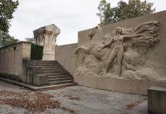 Parc de la Tête-d'Or - English:  Monument aux Morts, l'île du Souvenir, Parc de la Tête d'Or