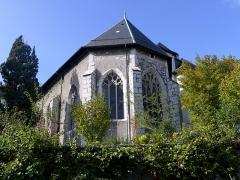 Eglise de Lemenc - English:  Sight of the apse of Saint-Pierre-de-Lémenc church, on the heights of Chambéry, Savoie, France.