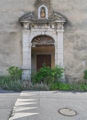 Couvent des Bernardins - English:  Portal of the bernardins convent in La Roche-sur-Foron, Haute-Savoie, France