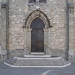 Eglise - English:  Portal of the Saint John the Baptist church in La Roche-sur-Foron, Haute-Savoie, France