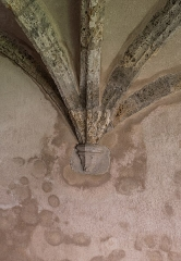 Abbaye de Mélan - English:  Vaulting in the cloister of the Mélan carthusian monastery in Taninges, Haute-Savoie, France