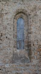 Abbaye de Mélan - English:  Window of the Mélan carthusian monastery in Taninges, Haute-Savoie, France