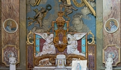 Ancien prieuré de la Daurade - English:   Chapel of the worship angels, Basilica of Notre-Dame de la Daurade in Toulouse. Ceramic by Gaston Virebent .
