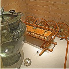 Site et tombe princière de Vix - Deutsch:  Châtillon-s-S, Wagen aus kelt. Grab