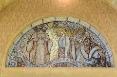Eglise du Sacré-Coeur : l'église ; les façades et toitures du presbytère, de l'ancienne cité paroissiale, actuel centre universitaire catholique, et la clôture de ces bâtiments (cad. AV 222, 223) : inscription par arrêté du 2 août 2012 -  Mosaiques au desus des portes à l'intérieur de l'église du Sacré-Cœur, (Dijon, Côte d'Or, Bourgogne, France).