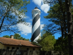 Phare de Contis -  The lighthouse of Contis, France, which is in a forest, some distance from the sea.