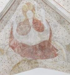 Eglise Saint-Martin - Français:   Christ en gloire, fresque de l\'église Saint Martin de Bouxières