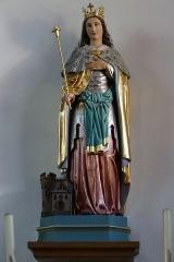 Eglise catholique Saint-Etienne -  Alsace, Bas-Rhin, Seltz, Église Saint-Étienne (PA67000069, IA67007467): Chapelle Sainte-Adelaïde, Statue de Sainte-Adelaïde.