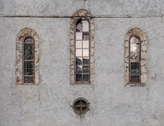 Ancienne abbaye de Sixt - English:  Windows of the Mary Magdalene church in Sixt-Fer-à-Cheval, Haute-Savoie, France