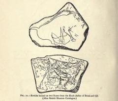 Site archéologique des quatre abris sous roche du château de Bruniquel - English:  figure(s): 71