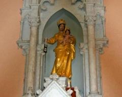 Eglise Notre-Dame du Mont-Carmel - Français:   Statue de Notre-Dame du Mont-Carmel au Carmel à Basse-Terre en Guadeloupe.
