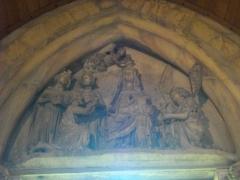 Ancien archevêché, actuellement Palais du Tau -  Palais du Tau à Reims (Marne, France). Tympan de la chapelle haute: adoration des mages