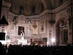 Eglise Saint-Nicolas-de-Myre - Français:   Flûte et piano dans l\'église Saint-Nicolas de Myre à Jausiers, Alpes-de-Haute-Provence (France).