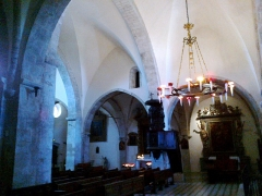 Eglise de la Conversion de Saint-Paul -  Saint-Paul-De-Vence Eglise Saint-Paul Chapelle Droite Voute