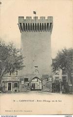 Porte d'Orange - Français:   ancienne carte postale de la Porte d\'Orange à Carpentras