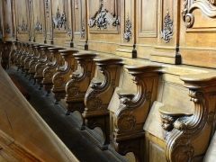 Ancienne abbaye bénédictine -  Alsace, Bas-Rhin, Abbatiale Saint-Étienne de Marmoutier (PA00084783, IA67007715).  Stalles et lambris du chœur (XVIIIe):        This object is classé Monument Historique in the base Palissy, database of the French furniture patrimony of the French ministry of culture,under the referencesPM67000168 and IM67011775. беларуская (тарашкевіца)| brezhoneg| català| Deutsch| English| español| suomi| français| magyar| italiano| македонски| Plattdüütsch| português| українська| +/−