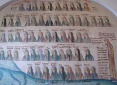 Monastère de Sainte-Odile, au Mont-Saint-Odile -  Alsace, Bas-Rhin, Ottrott, Couvent du Mont Sainte-Odile (PA00084884, IA00075612): Peinture murale