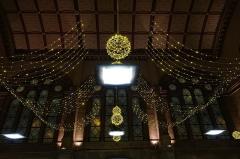 Gare ferroviaire centrale - Français:   Illuminations dans la gare de Strasbourg (Bas-Rhin, France).
