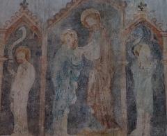 Eglise Saints-Pierre-et-Paul -  Alsace, Bas-Rhin, Wissembourg, Église abbatiale Saints-Pierre-et-Paul (PA00085247, IA67008036).  Fresque gothique