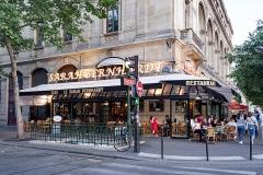 Métropolitain, station Châtelet -  Le Sarah Bernhardt brasserie. Address: 2 Place du Châtelet, 75004 Paris, France.