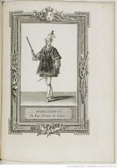 Pavillon de l'Arsenal, actuellement bibliothèque de l'Arsenal - Français:   1775-06-11 Sacre de Louis XVI - habillement du roi d\'armes de France.