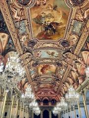 Hôtel de ville -  Salle des fêtes de l'hôtel de ville de Paris (Île-de-France, France).