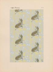 Immeuble dit Castel Béranger -  Hector Guimard, Album Castel Béranger, 1898 - planche n° 37: motifs de papier peint.