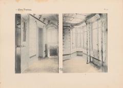 Immeuble dit Castel Béranger -  Hector Guimard, Album Castel Béranger, 1898 - planche n° 49: vue partielle de deux pièces, photographies reproduites par héliogravure.