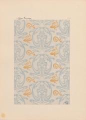 Immeuble dit Castel Béranger -  Hector Guimard, Album Castel Béranger, 1898 - planche n° 53: motifs de papier peint.
