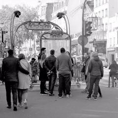 Métropolitain, station Blanche -  Paris 2016 10 12 Walk to Montmartre (203)