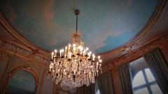 Anciens hôtels de Brienne et de Broglie, actuellement ministère de la défense -  lustre, Salon bleu ou bureau du ministre de la défense, Hötel de Brienne, Paris