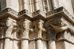 Eglise Notre-Dame - Français:   La collégiale Notre-Dame à Lamballe (Côtes d\'Armor). Ébrasement droit du portail occidental.