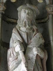 Eglise Notre-Dame de Rumengol -  Saint-Jacques-le-Majeur. Collège apostolique du porche sud de l'église Notre-Dame-de-Rumengol au Faou (29).