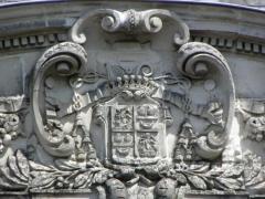 Ancienne abbaye Saint-Melaine - Français:   Armes de Mgr d\'Estrades au Palais abbatial St-Melaine de Rennes
