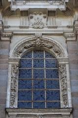 Eglise Notre-Dame-en-Saint-Mélaine - Français:   Détail sculpté de la tour-clocher de l\'église Notre-Dame en Saint-Melaine de Rennes (35).