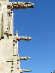 Eglise Notre-Dame-du-Roncier - Français:   Gargouilles de la basilique Notre Dame du Roncier à Josselin