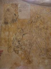Eglise ou chapelle Notre-Dame -  Prédicateur et la mort. Fragment de la danse macabre de la chapelle Notre-Dame de Kernascléden (56).
